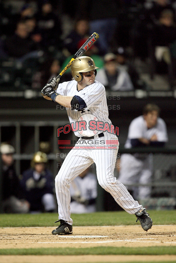 April 15, 2009: A. J. Pollock (4) of the Notre Dame Fighting Irish at US Cellular Field in Chicago, IL.  Photo by: Chris Proctor/Four Seam Images