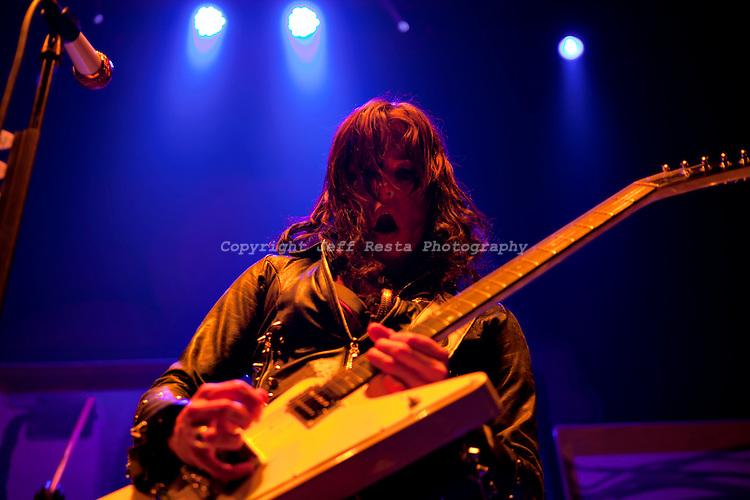 Halestorm live in concert at Verizon Theatre on April 10, 2011 in Grand Prairie, TX. Avalanche Tour.