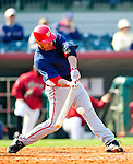 4 March 2010: Washington Nationals' catcher Jamie Burke in action during the Nationals-Astros Grapefruit League Opening game at Osceola County Stadium in Kissimmee, Florida. The Houston Astros defeated the Nationals split-squad 15-5 in Spring Training action. Mandatory Credit: Ed Wolfstein Photo