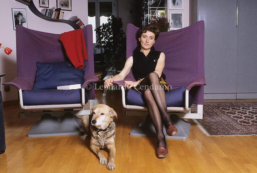 Gallarate ( Varese ) Italy, aprile 2000, Marta Morazzoni, Italian writer, winner of Campiello prize for the book \' Il caso Campiello,  © Leonardo Cendamo