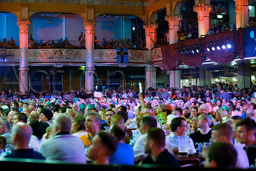 24.07.2016. Empress Ballroom, Blackpool, England. BetVictor World Matchplay Darts. The crowd watch the main event