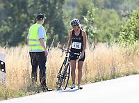 Julia Senf muss mit Defekt aufgeben - Mörfelden-Walldorf 15.07.2018: 10. MöWathlon