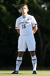 18 September 2015: Notre Dame's Evan Panken. The University of North Carolina Tar Heels hosted the University of Notre Dame Fighting Irish at Fetzer Field in Chapel Hill, NC in a 2015 NCAA Division I Men's Soccer match. North Carolina won the game 4-2