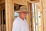 """John English is seen in his home in Vaughn, Georgia after an April tornado tore apart the community, as well as his home, which is currently being rebuilt with the help of family. John and his wife Brenda braced for the storm in their bedroom and """"it sounded like one of those 767 jets. Whoosh!,"""" Mr. English said of the tornado."""