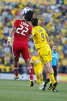 3 JULY 2010:  Wilman Conde of Chicago Fire (22) and Jason Garey of the Columbus Crew (9) during MLS soccer game between Chicago Fire vs Columbus Crew at Crew Stadium in Columbus, Ohio on July 3, 2010.