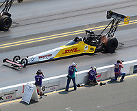 Jul 29, 2018; Sonoma, CA, USA; NHRA top fuel driver Richie Crampton during the Sonoma Nationals at Sonoma Raceway. Mandatory Credit: Mark J. Rebilas-USA TODAY Sports