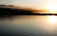 Sunrise and fog. Mavericks Surf Contest in Half Moon Bay, California on February 13th, 2010.