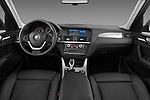 Straight dashboard view of a 2011 BMW x3 xDrive35i SUV