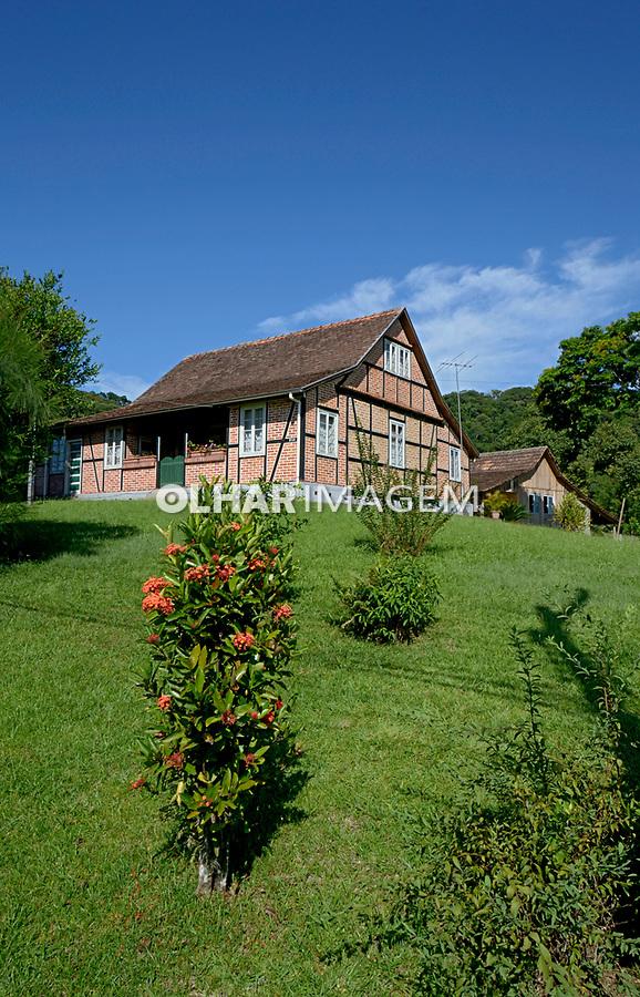 Casa no estilo enxaimel, cidade de Pomerode, Santa Catarina. 2015. Foto de Daniel Cymbalista.
