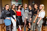 Marie McMahon, Sarah Healy, Rachel Lynch, Roisin Boyling, Emma Connelly, Aoife Leen and Serina Downy enjoying the Rose Hotel staff party in Benners Hotel on Sunday night.