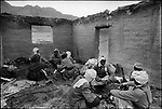 Toubou rebel forces sheltered in the ruins of a school, Aouzou oasis, Tibesti, Chad, February 1970