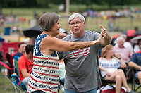 NWA Democrat-Gazette/BEN GOFF @NWABENGOFF<br /> Ronnie Perkins and wife Debbie Perkins of Bella Vista dance as The Downtown Livewires play Tuesday, July 3, 2018, during the Bella Vista Independence Day Blues Festival at Loch Lomond in Bella Vista.