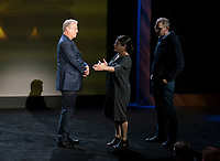 An Inconvenient Sequel: Truth to Power (2017)<br /> Al Gore with directors Bonni Cohen and Jon Shenk on the set<br /> *Filmstill - Editorial Use Only*<br /> CAP/FB<br /> Image supplied by Capital Pictures