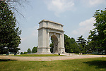 Valley Forge National Historical Park.  National Memorial Arch. .Philadelphia, Pennsylvania, PA USA.  Photo copyright Lee Foster, 510-549-2202, lee@fostertravel.com, www.fostertravel.com. Photo 363-30327