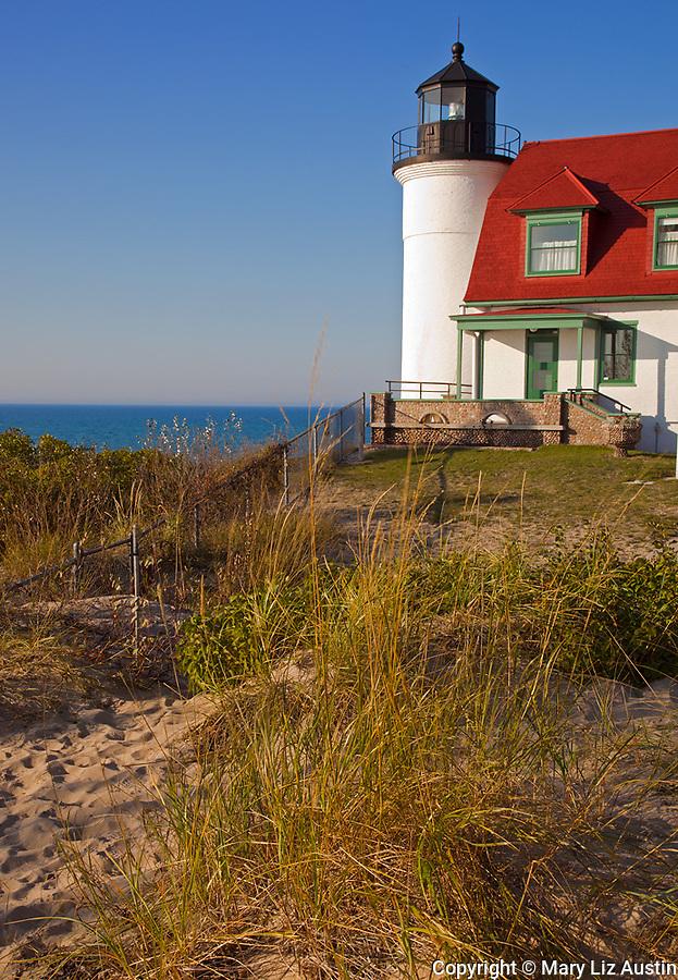 Benzie County, MI: Point Betsie Lighthouse (1858) on Lake Michigan