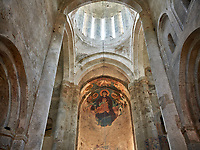 Pictures & images of the medieval interior frescoes of the Alaverdi St George Cathedral & monastery complex, 11th century, near Telavi, Georgia (country). <br /> <br /> At 50 meters high Alaverdi St George Cathedral was once the highest cathedral in Georgia (now its the nes Tblisi cathedral). The cathedral is part of a Georgian Orthodox monastery founded by the monk Joseph [Abba] Alaverdeli, who came from Antioch and settled in Alaverdi. On the UNESCO World Heritage Site Tentative List.