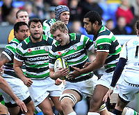 Reading, England. Jamie Gibson of London Irish in action during the LV= Cup match between London Irish and Sale Sharks at Madejski Stadium on November 11, 2012 in Reading, England.