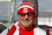 30th September 2017, Riverside Stadium, Middlesbrough, England; EFL Championship football, Middlesbrough versus Brentford; Playwright and Middlebrough fan Mr Alan Spence outside the RIverside Stadium
