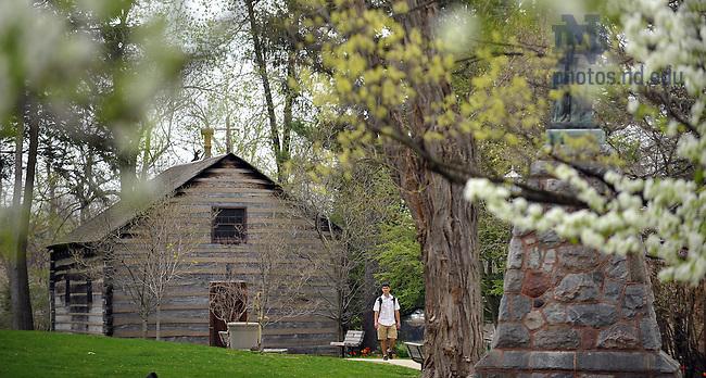 Log Chapel, spring 2009..Photo by Matt Cashore/University of Notre Dame