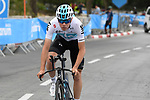 Team Sky riders recon the course before Stage 1 of the 101st edition of the Giro d'Italia 2018 an individual time trial of 9.7km around Jerusalem, Israel. 4th May 2018.<br /> Picture: LaPresse/Fabio Ferrari | Cyclefile<br /> <br /> <br /> All photos usage must carry mandatory copyright credit (&copy; Cyclefile | LaPresse/Fabio Ferrari)