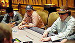 Shaun Deeb, at right, on the same table as David Williams and Gavin Smith, background.