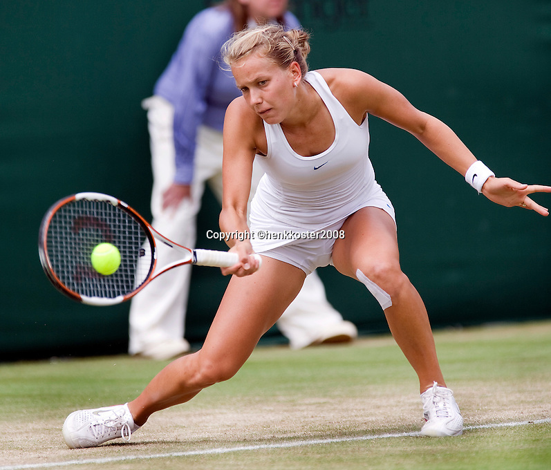 27-6-08, England, Wimbledon, Tennis,  Zahlavova Strycova