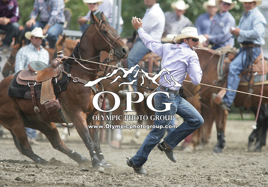27 Aug 2010: Stetson Vest scored a time of  8.0 in the Tie Down Roping competition at the Kitsap County Stampede Wrangle Million Dollar PRCA Silver Rodeo Tour Bremerton, Washington.