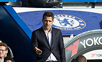 Watford Manager Marco Silva during the Premier League match between Chelsea and Watford at Stamford Bridge, London, England on 21 October 2017. Photo by Andy Rowland.