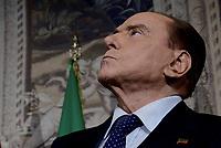 Roma, 12 Aprile 2018<br /> Silvio Berlusconi.<br /> Secondo giro di Consultazioni per la formazione del Governo