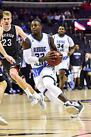 Washington, DC - MAR 11, 2018: Rhode Island Rams guard Jared Terrell (32) drives to the basket during the Atlantic 10 men's basketball championship between Davidson and Rhode Island at the Capital One Arena in Washington, DC. (Photo by Phil Peters/Media Images International)