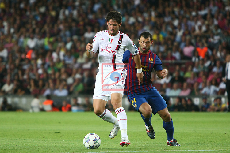 Mascherano vs Pato. FC Barcelona vs AC Milan: 2-2 (UEFA Champions League - Season 1).