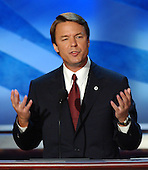 Boston, MA - July 29, 2004 -- United States Senator John Edwards (Democrat of North Carolina) gives his acceptance speech at the 2004 Democratic National Convention..Credit: Ron Sachs / CNP