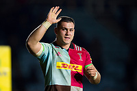 Lewis Boyce of Harlequins acknowledges supporters after the match. Aviva Premiership match, between Harlequins and Saracens on December 3, 2017 at the Twickenham Stoop in London, England. Photo by: Patrick Khachfe / JMP
