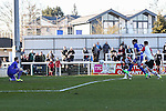 Ollie Palmer of Grimsby Town (33) scores the opening goal against Woking during the Vanamara Conference League match at the Kingfield Stadium, Woking, Surrey<br /> Picture by David Horn/eXtreme aperture photography +44 7545 970036<br /> 07/03/2015