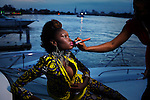 LAGOS, NIGERIA MAY 29: Fifteen year old model Favour Lucky poses for pictures during a photo shoot at Radisson Blu hotel on May 29, 2013 in Lagos, Nigeria. Favour won Nigeria's next supermodel when she was fourteen years old. She has modeled in Johannesburg, Cape Town, New York and Atlanta. (Photo by: Per-Anders Pettersson)