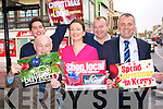 Killarney traders have kick-started their Christmas shopping campaign to encourage everyone to shop local this Christmas and support local businesses. .Back L-R William Sheahan of Sheahans Pharmacy and John McEnery of the Cartridge Shop. .Front L-R Donie Sheahan of Sheahans Pharmacy, Geraldine Mangan of 'What Women Want' beauty salon and Thomas Leahy of 'Cut your Costs'