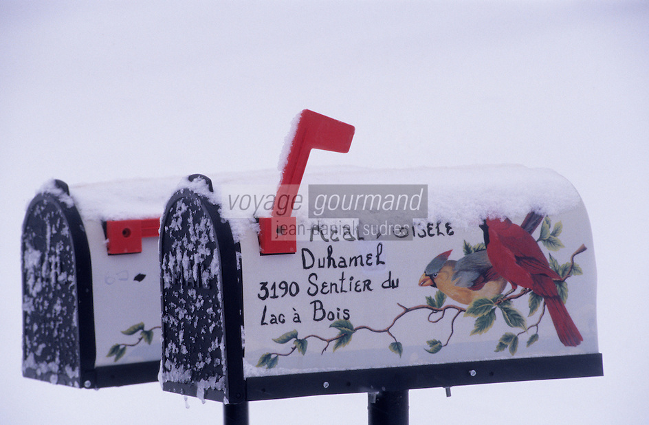 Amérique/Amérique du Nord/Canada/Quebec/Saguenay/Env de Ferland : Boîte aux lettres