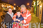 Beatrice and Patrick Horan with Larry McAuliffe Christmas Shopping in Castleisland on Monday