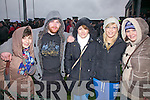 St Mary's Fans at the South Kerry Final in Waterville on Christmas Eve were l-r; Gillian Casey, Fergus Keating, Marie Donnelly, Anna O'Donoghue & Aoife Daly.