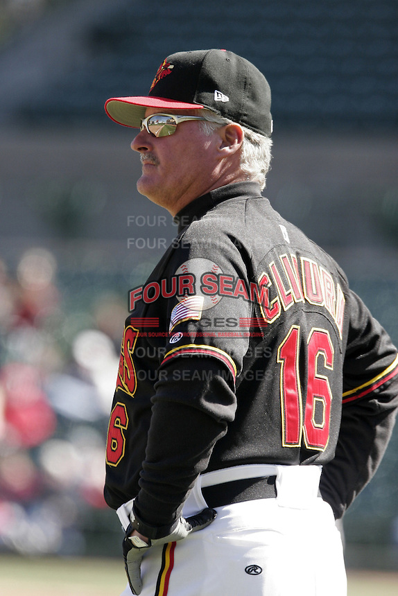 Rochester Red Wings Stan Cliburn during an International League game at Frontier Field on April 9, 2006 in Rochester, New York.  (Mike Janes/Four Seam Images)