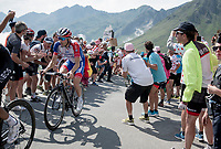 eventual stage winner Thibaut Pinot (FRA/Groupama-FDJ) up the Tourmalet (HC/2115m/19km @7.4%)<br /> <br /> Stage 14: Tarbes to Tourmalet(117km)<br /> 106th Tour de France 2019 (2.UWT)<br /> <br /> ©kramon