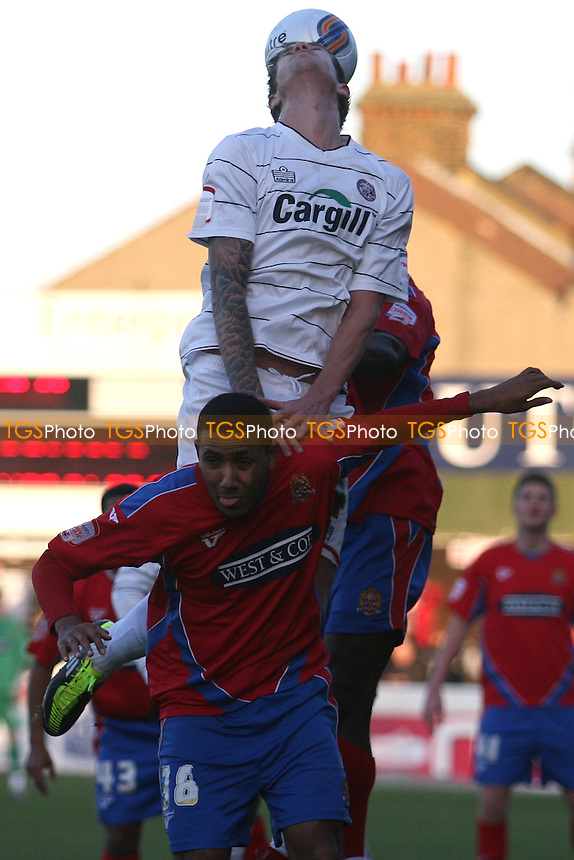 - Dagenham vs Hereford - at the London Borough of Barking and Dagenham Stadium - 14/01/12 - MANDATORY CREDIT: Dave Simpson/TGSPHOTO - Self billing applies where appropriate - 0845 094 6026 - contact@tgsphoto.co.uk - NO UNPAID USE.