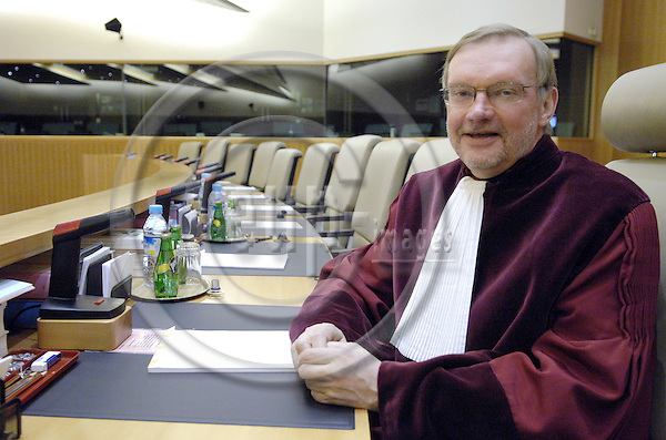 Luxembourg - 25 April 2008---Prof. Dr. Allan ROSAS from Turku / Abo (Finland), judge and member of the Court of Justice of the European Communities - President of the Third Chamber, in the court room---Photo: Horst Wagner / eup-images