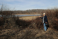 NWA Democrat-Gazette/FLIP PUTTHOFF <br /> Seed-bearing vegetation attracts an array of birds to the    Feb. 10 2017       Eagle Watch Nature Trail.