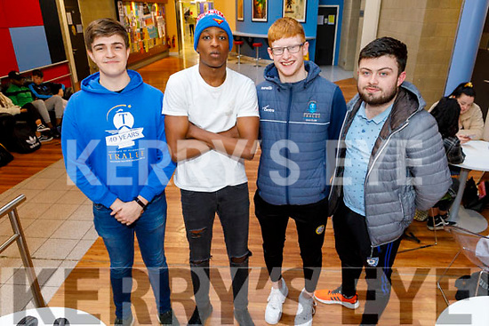 IT Tralee students Conor O'Brien, Sazo Odlhi, Anthony Darmody and Adam Guerin pictured on Thursday last before the closure.<br /> View 6 Related Assets