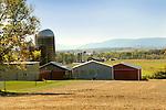 Union county farmscape in fall.