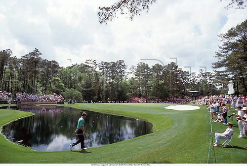 April 1991. Georgia, USA. 15th Hole, Augusta, US Masters. The Augusta National Golf Club, located in Augusta, Georgia was founded by Bobby Jones and Clifford Roberts on the site of a former indigo plantation, the course was designed by Jones and Alister MacKenzie