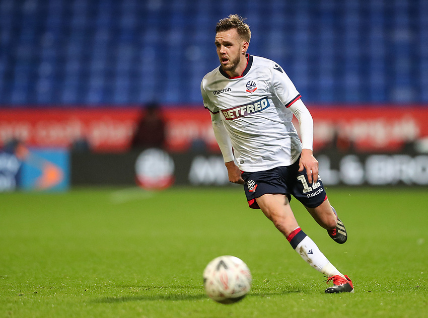 Bolton Wanderers' Craig Noone<br /> <br /> Photographer Andrew Kearns/CameraSport<br /> <br /> Emirates FA Cup Third Round - Bolton Wanderers v Walsall - Saturday 5th January 2019 - University of Bolton Stadium - Bolton<br />  <br /> World Copyright © 2019 CameraSport. All rights reserved. 43 Linden Ave. Countesthorpe. Leicester. England. LE8 5PG - Tel: +44 (0) 116 277 4147 - admin@camerasport.com - www.camerasport.com