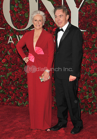 NEW YORK, NY - JUNE 12: Glenn Close and Andrew Lloyd Webber at the 70th Annual Tony Awards at The Beacon Theatre on June 12, 2016 in New York City. Credit: John Palmer/MediaPunch