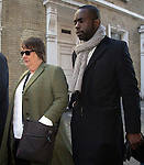 """Pic shows: Kathy Burke<br /> Funeral of Roger Lloyd-Pack - """"Trigger"""" from Only Fools and Horses.<br /> <br /> Mourners arriving at the service at Actors Church in Covent Garden -<br /> <br /> <br /> <br /> <br /> Pic by Gavin Rodgers/Pixel 8000 Ltd"""